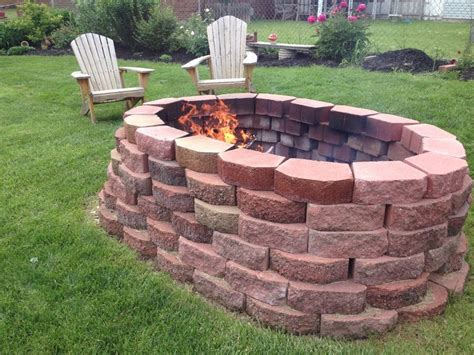 Diy Brick Firepit 1000 Images About Firepit Diy On Backyards Do It Yourself And Diy And Crafts