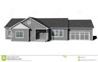 ranch style trim ranch house gray stock illustration image 55857332