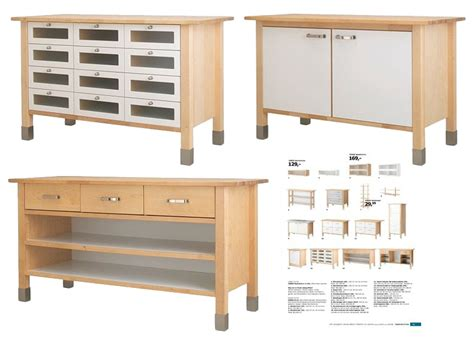 Free Standing Kitchen Furniture Ikea Varde Kitchen Island With Drawers Roselawnlutheran
