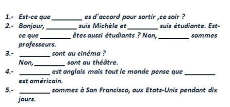ejemplos de preguntas en frances con est ce que le verbe quot 202 tre quot franc 233 s elemental ejercicios