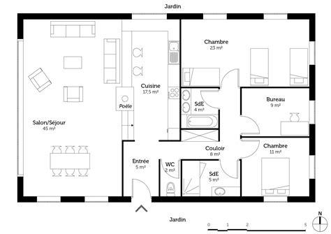 Garage Plans With Loft plan maison de campagne contemporaine ooreka