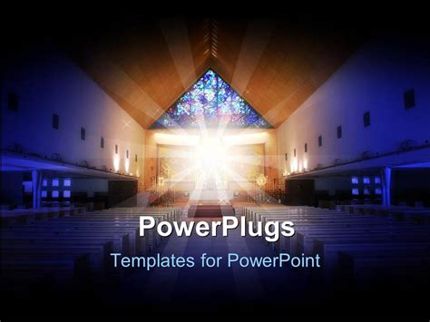 Powerpoint Template A Depiction Of A Church With Holy Light In The Middle Of It 7287 Free Church Powerpoint Templates