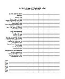 free vehicle maintenance log template maintenance log template vlashed
