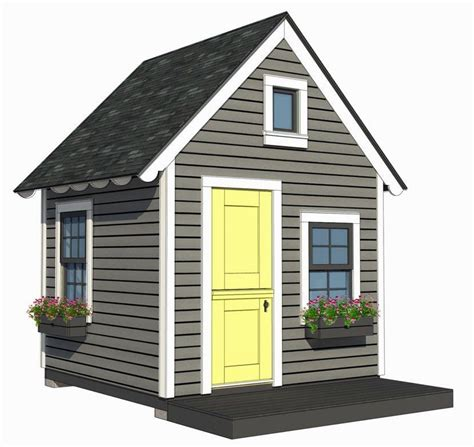 playhouse shed plans 8 x8 playhouse with loft plans by a place imagined