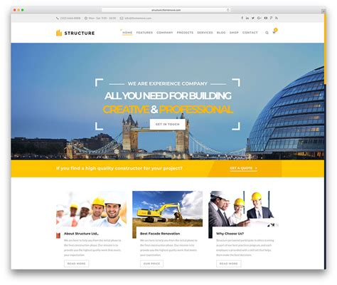 46 Best Construction Company Wordpress Themes 2018 Colorlib Best Construction Website Templates
