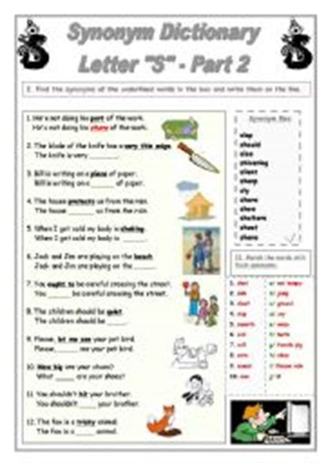 Letter Synonym Synonym Dictionary Letter S Part 2