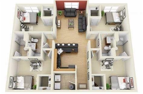 simple 4 bedroom floor plans simple 4 bedroom house floor plans 3d house floor plans