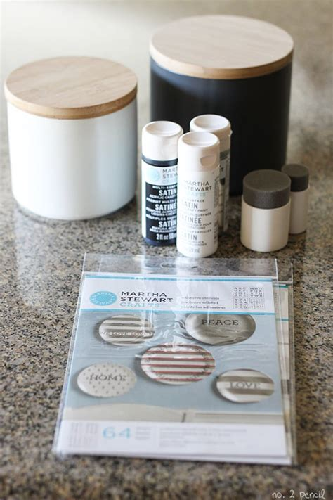 martha stewart kitchen canisters diy stenciled kitchen canisters no 2 pencil