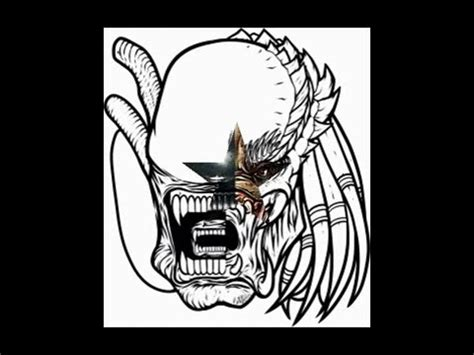vs predator drawings vs predator drawing step by step
