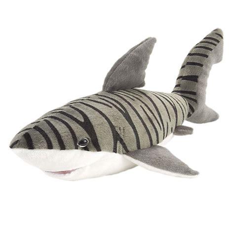 plush tiger shark 15 inch stuffed animal cuddlekin by republic