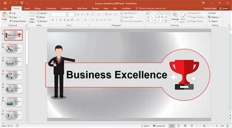 Animated Business Excellence Template For Powerpoint Excellent Ppt Templates Free