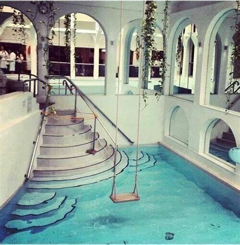 swing in home a swing over your indoor pool my dream house