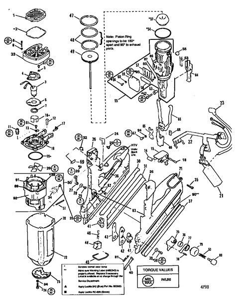 paslode framing nailer parts diagram paslode impulse compact nailer parts model ct325 sears