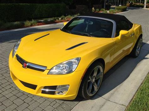 how to learn about cars 2007 saturn sky transmission control sell used 2007 saturn sky convertible 2 door 2 4l yellow with black leather seats 19 quot rims in
