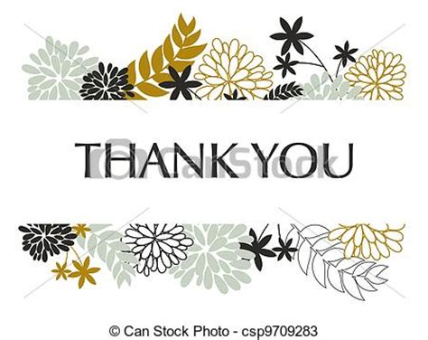 clipart greeting card template thank you card a greeting card template with floral