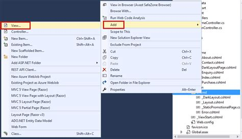 add layout to view in mvc adding partial views pages in mvc 5 with exle c tutorial