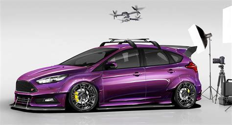 fords modded focus hatches  sema carscoops