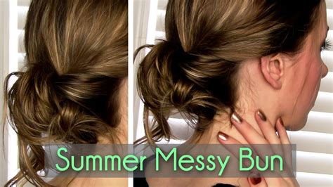 easiest messy side bun youtube messy twisted bun in 2 minutes rachhloves youtube