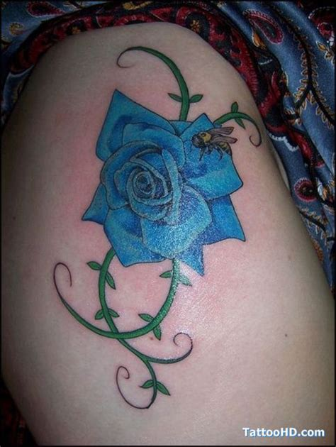 rose and bee tattoo 17 best ideas about blue flower tattoos on