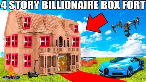 boat dog 10 hours 4 story billionaire box fort challenge movie theatre