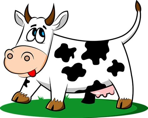 clipart mucca cow animal livestock 183 free vector graphic on pixabay