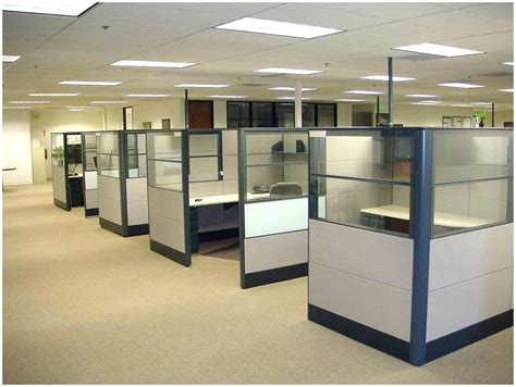 Office divided into 8 cubicles