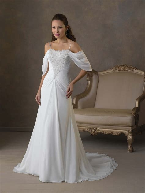 long chiffon wedding dress dresscab