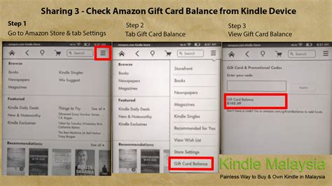 Checking Amazon Gift Card Balance - buy ebooks movies apps and music from amazon in malaysia