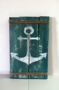 Pallet anchor sign rustic lake decor rustic ocean decor