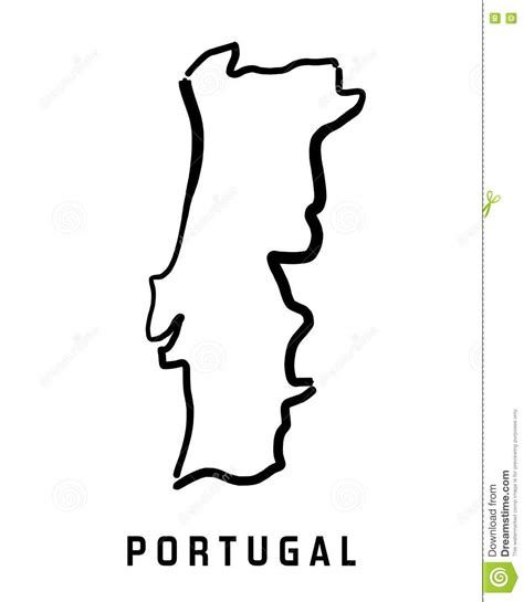 Portugal Map Outline by Portugal Map Stock Vector Image Of Drawing Stylized 79374107