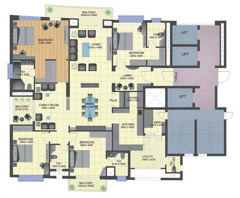 4 floor apartment plan 4 bedroom luxury apartment floor plans buybrinkhomes com