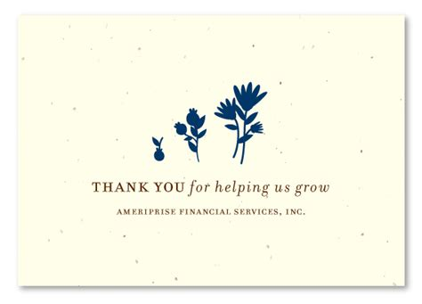 Financial Planner Thank You Letter To Client unique thank you cards on seeded paper for financial