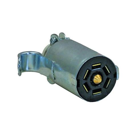 buyers tc2007z 7 pin flat zinc trailer end connector 4 50