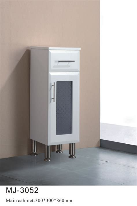 Free Standing Bathroom Storage Furniture China Free Standing Pvc Bathroom Storage Cabinet Mj 3052 China Pvc Bathroom Cabinets Pvc