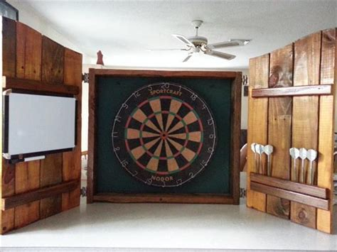 handmade dart board cabinet wood pallet board pallet furniture plans
