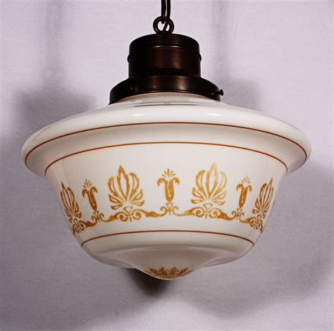 Vintage Light Fixtures For Sale Large Antique Neoclassical Pendant Light Fixture With Original Milk Glass Shade Nc557 For Sale