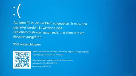 install windows 10 blue screen bluescreen nach clean install creators update auf