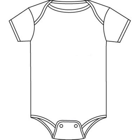 baby dress coloring page detailed onsie clipart all things baby showers