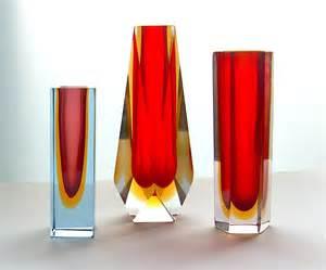 murano vase potshots murano faceted vases c 1970s
