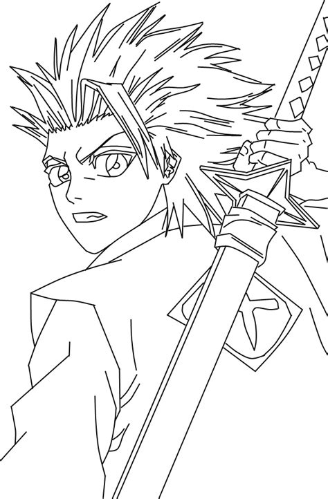 how to draw bleach lineart