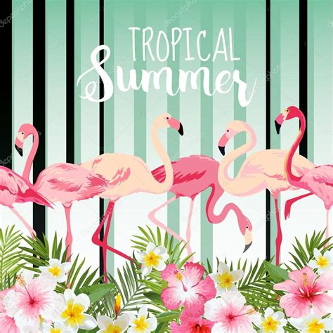 Flamingo Bird Retro Backgroundz flamingo bird background retro pattern tropical