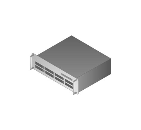 server drawing computers and network isometric vector stencils library