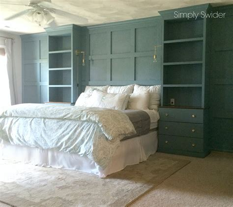 Master Bedroom Built Ins master bedroom built ins and the brass sconce simply swider