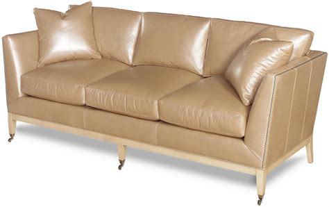 Nailhead Leather Sofa Sleek New Leather Sofa Crafted Top Grain Leather Nailhead 3 Seat Ebay