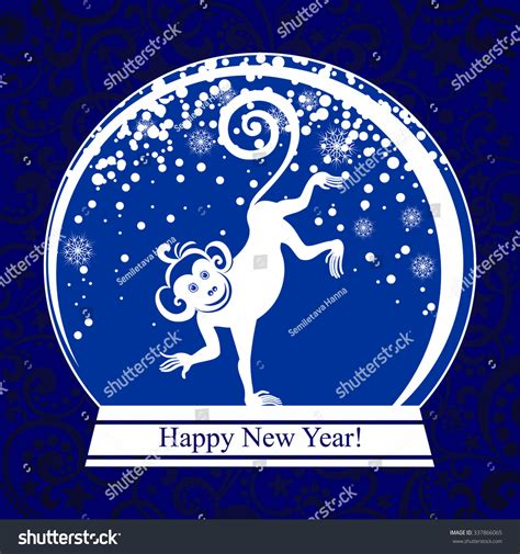 a happy new year 1924 vintage greeting card zazzle happy new year 2016 year monkey stock vector 337866065