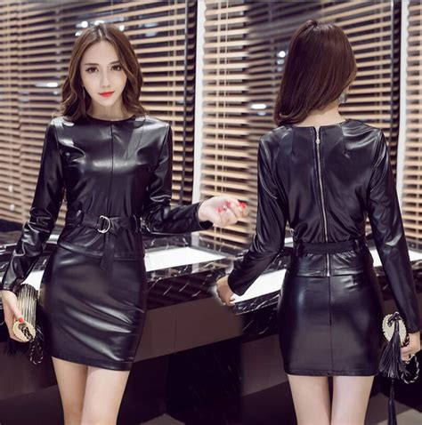 popular leather skirt suit buy cheap leather skirt suit