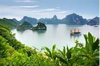 Halong Bay Vietnam Tropical Islands Ships Hd Wallpaper 1874888