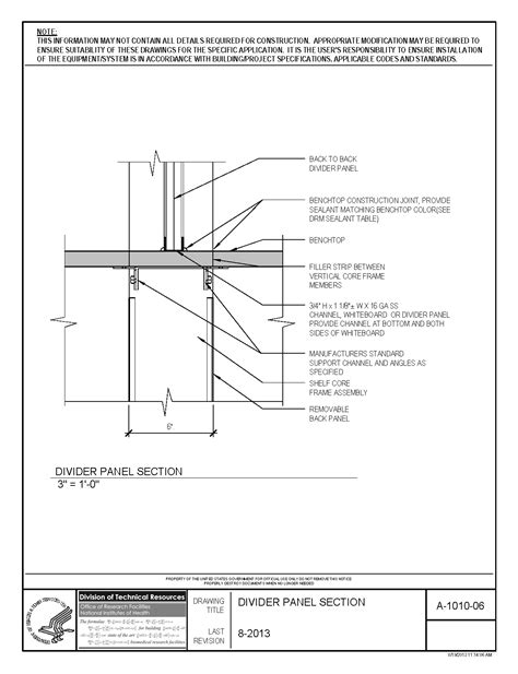 Kitchen Cabinet Height From Counter nih standard cad details