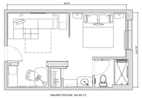 400 sq ft trump hotel suite layout in that would work this hotel might show the future of small apartments