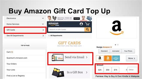 Order Amazon Gift Card - amazon gift card for amazon instance video and kindle ebooks